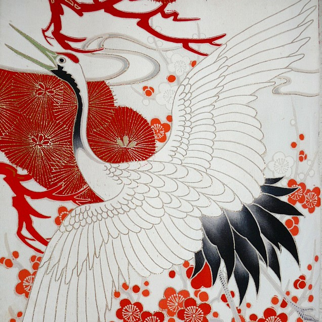 Ручная роспись на кимоно